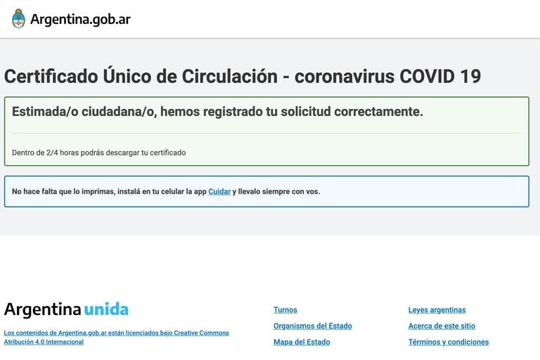 Paso a paso para tramitar el nuevo certificado de circulación durante la cuarentena