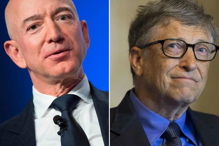 Jeff Bezos y Bill Gates celebraron que Joe Biden haya sido electo presidente por sobre Donald Trump