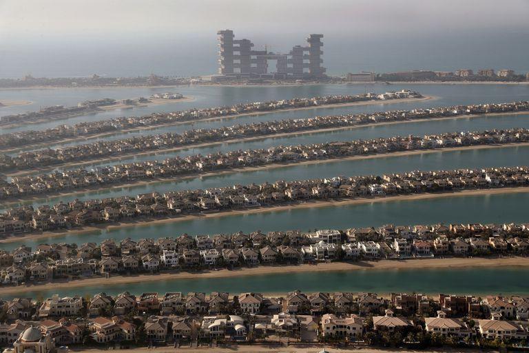 Casas en la isla Jumeirah Palm, una de las zonas más exclusivas
