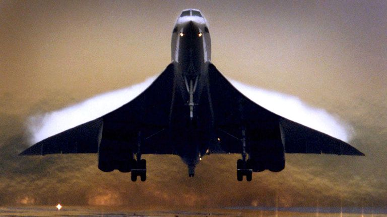 El avión supersónico de pasajeros Concorde