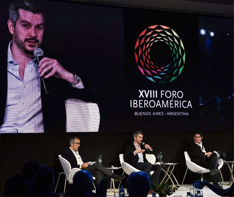 Peña expuso en el Foro Iberoamérica, que cerró ayer en Puerto Madero