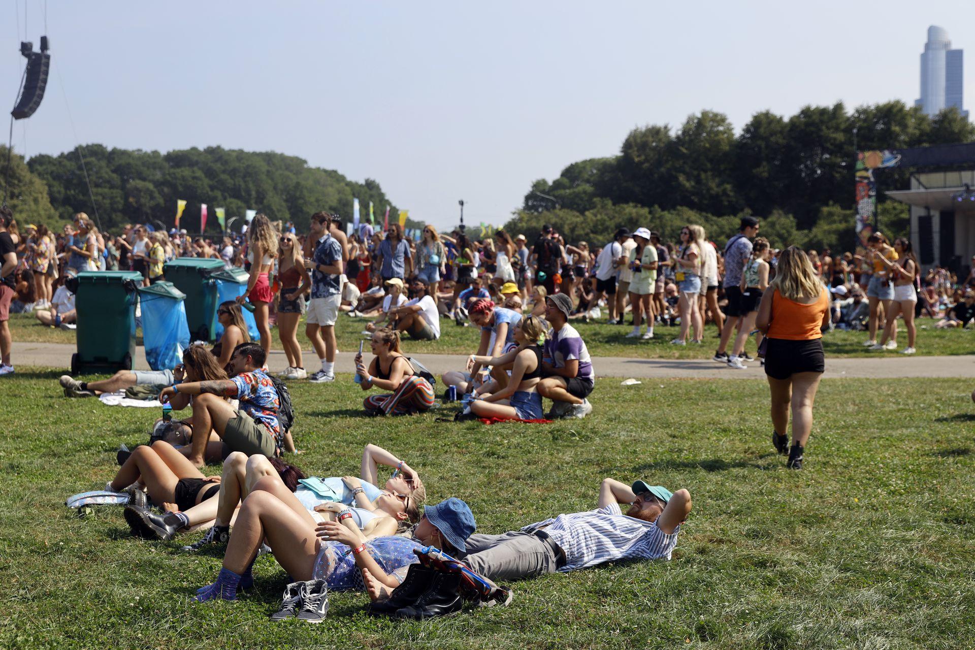 Descanso en el Grant Park en Chicago