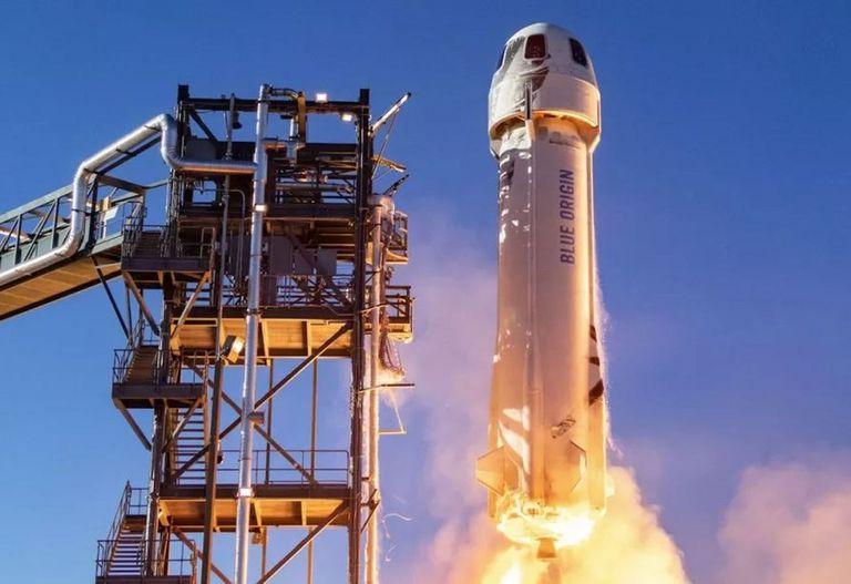 Esta será la nave en la que Jeff Bezos volará al espacio