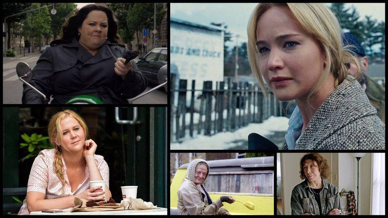 Las mejores actrices cómicas nominadas son: Melissa McCarthy, Jennifer Lawrence, Amy Schumer, Maggie Smith y Lily Tomlin