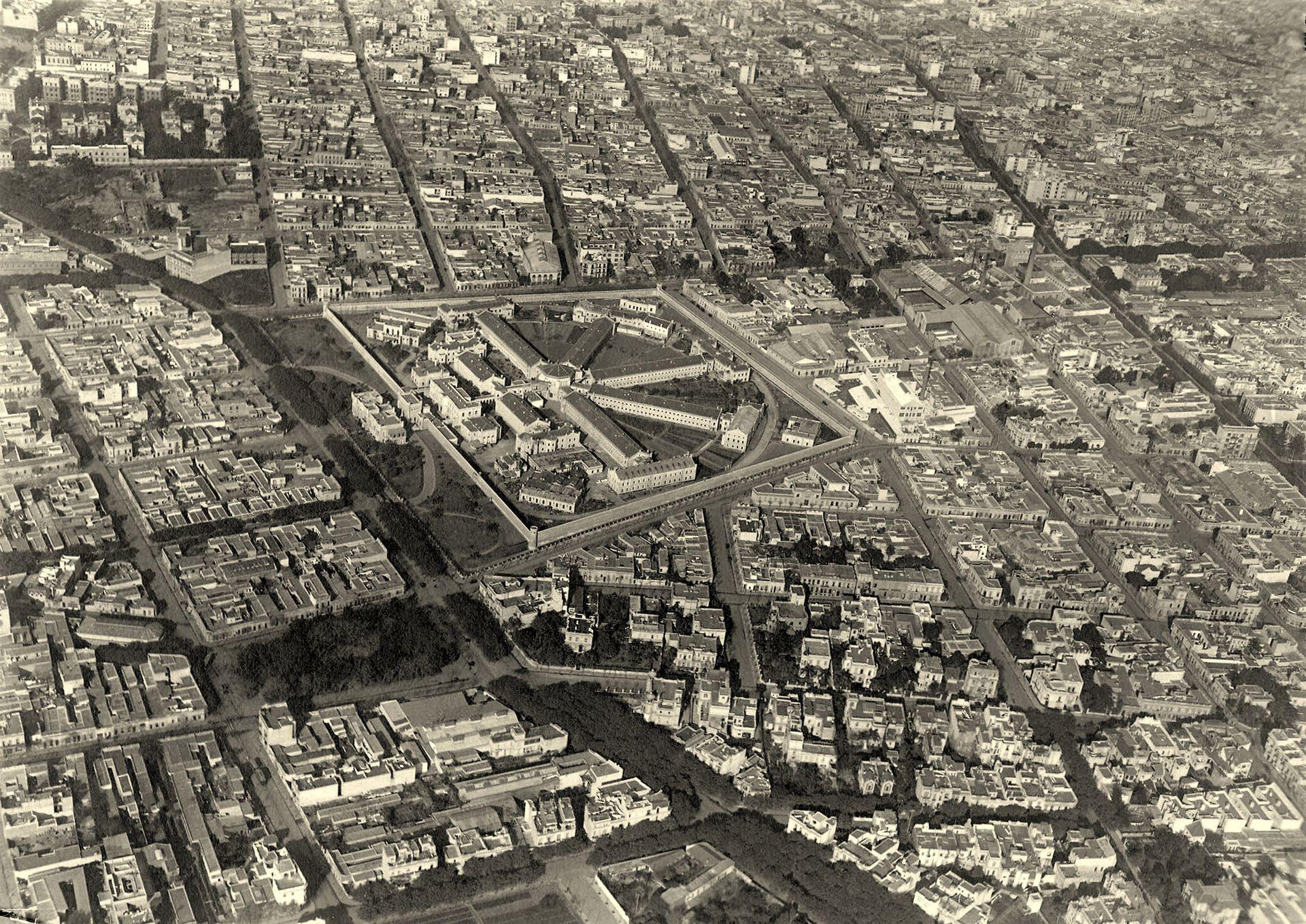 La penitenciaría (actual Parque Las Heras).