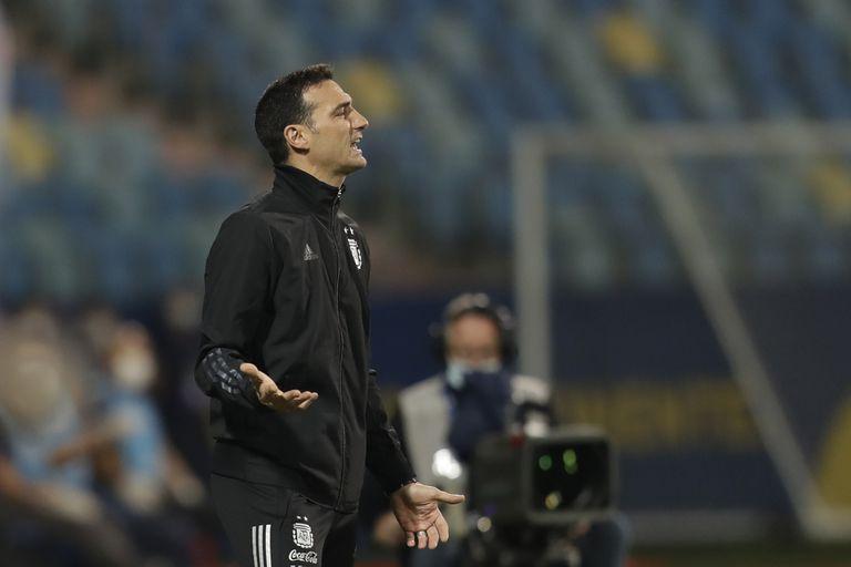 Scaloni en los cuartos de final de la Copa América
