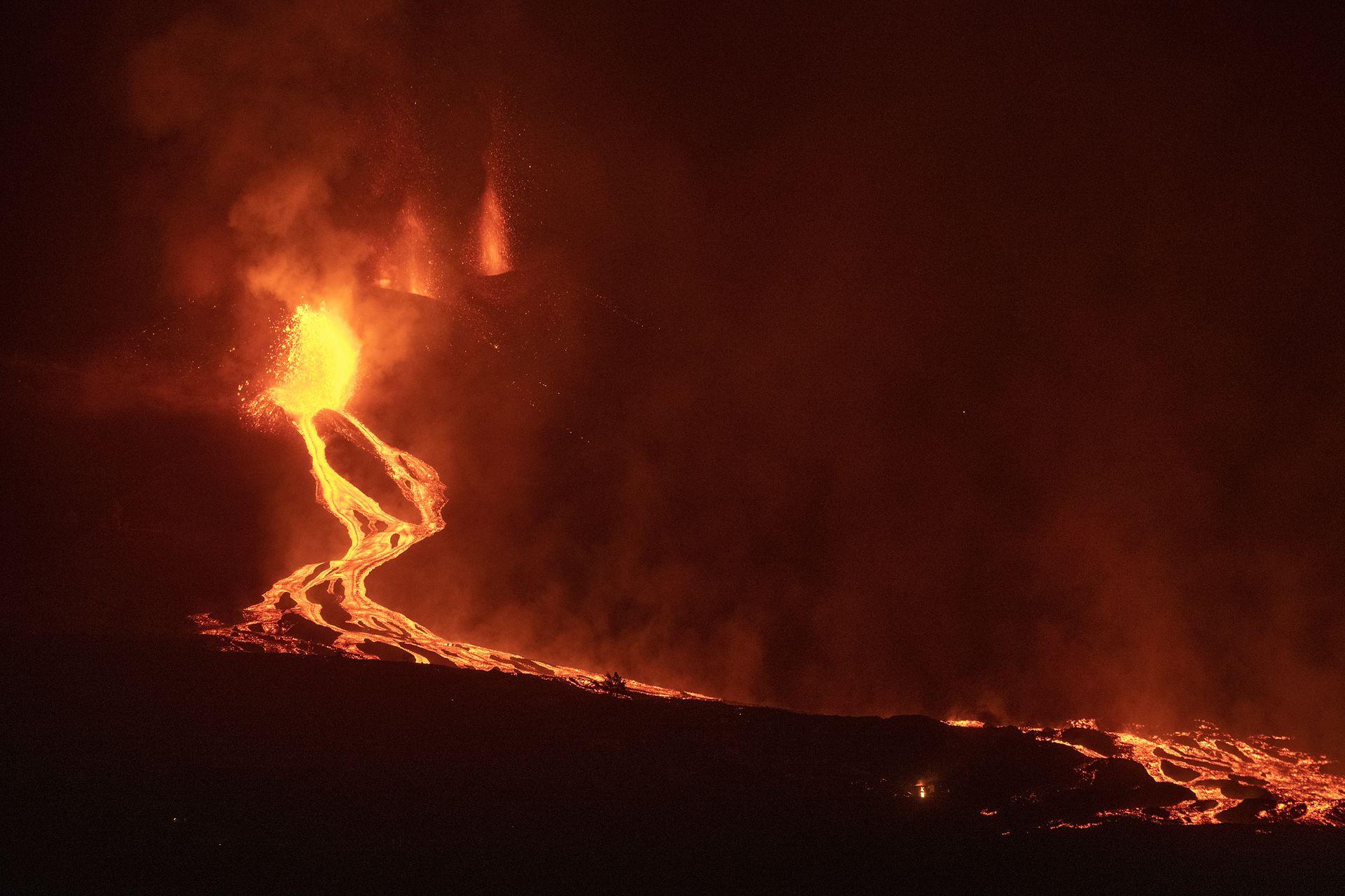 La erupción en las Canarias