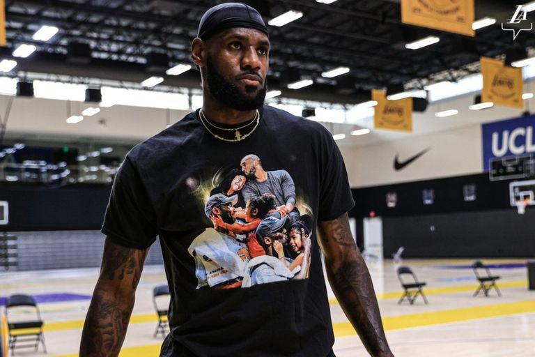 LeBron James. Vuelve al ruedo con un homenaje más para Kobe y Gianna Bryant