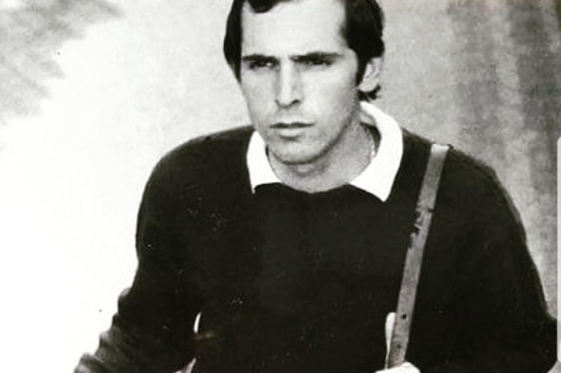 Daniel, al poco tiempo de su llegada. En la estación de subte Ópera, Madrid, 1976.