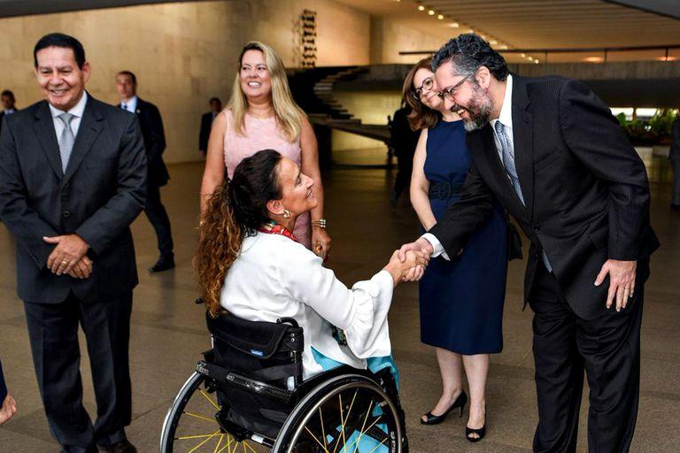 En Brasil, Michetti almorzó con el vicepresidente y visitó a la primera dama