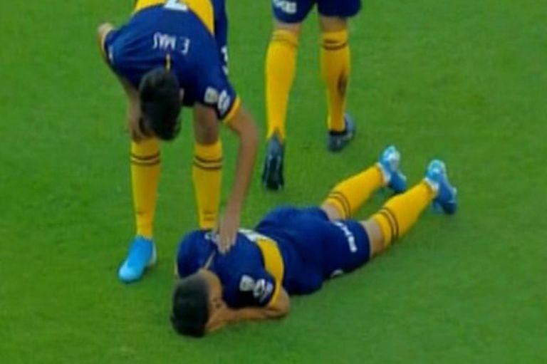 Mauro Zárate tras la lesión que sufrió anoche en Ecuador