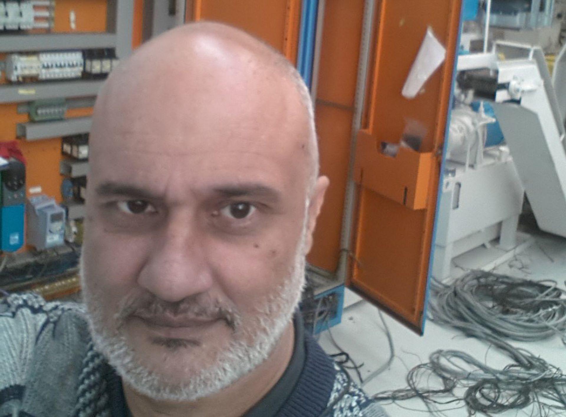 Selfie antes de la cuarentena, durante una de las jornadas laborales de Marcelo Solano. Ahora, imposibilitado de trabajar, espera cobrar el Ingreso Familiar de Emergencia para comprar alimentos