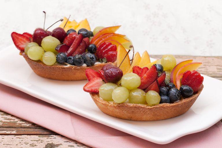 Frutas en crema de naranjas y masa brisée
