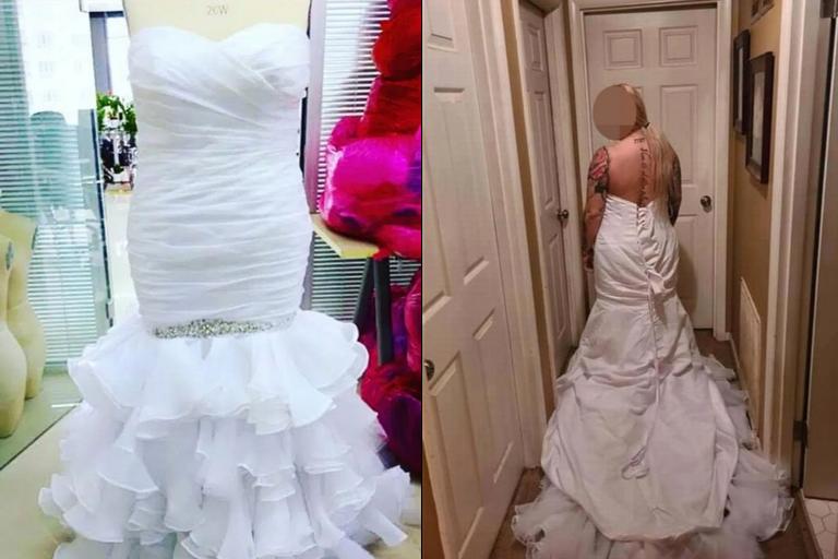 Las fotos que la mujer compartió en su facebook para contar la anécdota previa a su boda