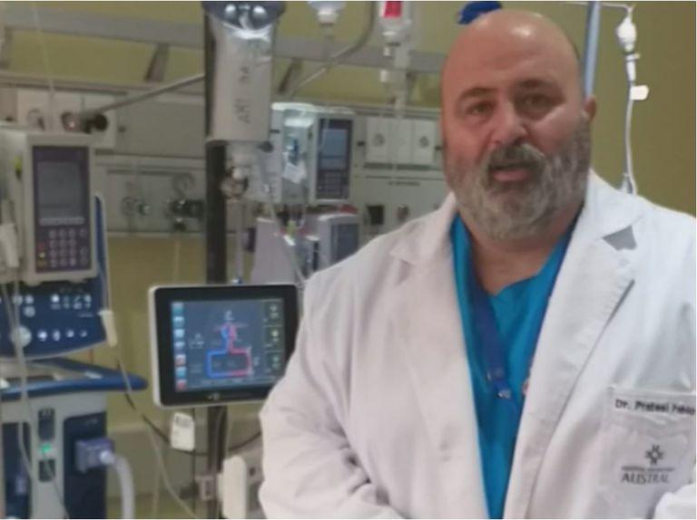 El jefe de Terapia Intensiva, Pablo Pratesi