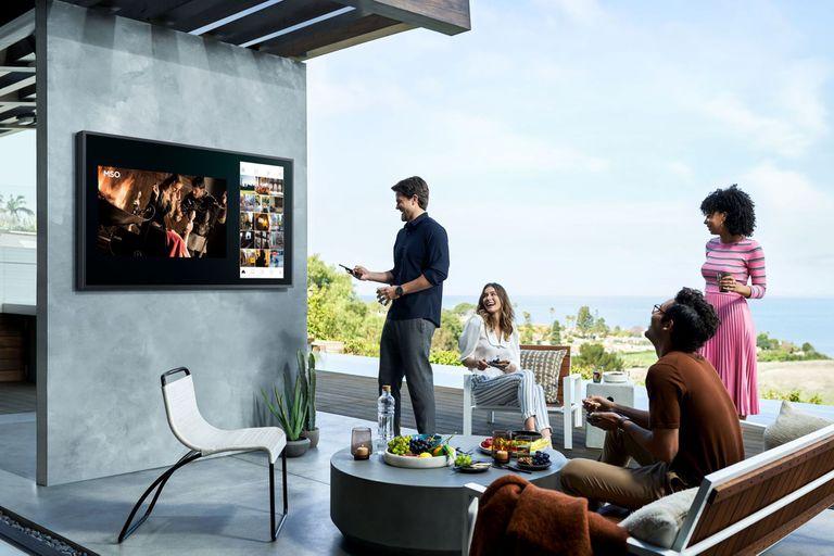 El televisor The Terrace de Samsung para exteriores