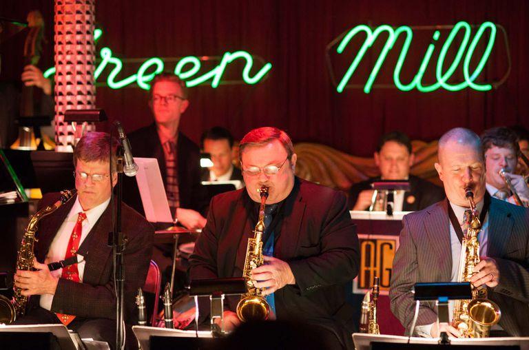 Músicos a pleno en el club de jazz Green Mill.