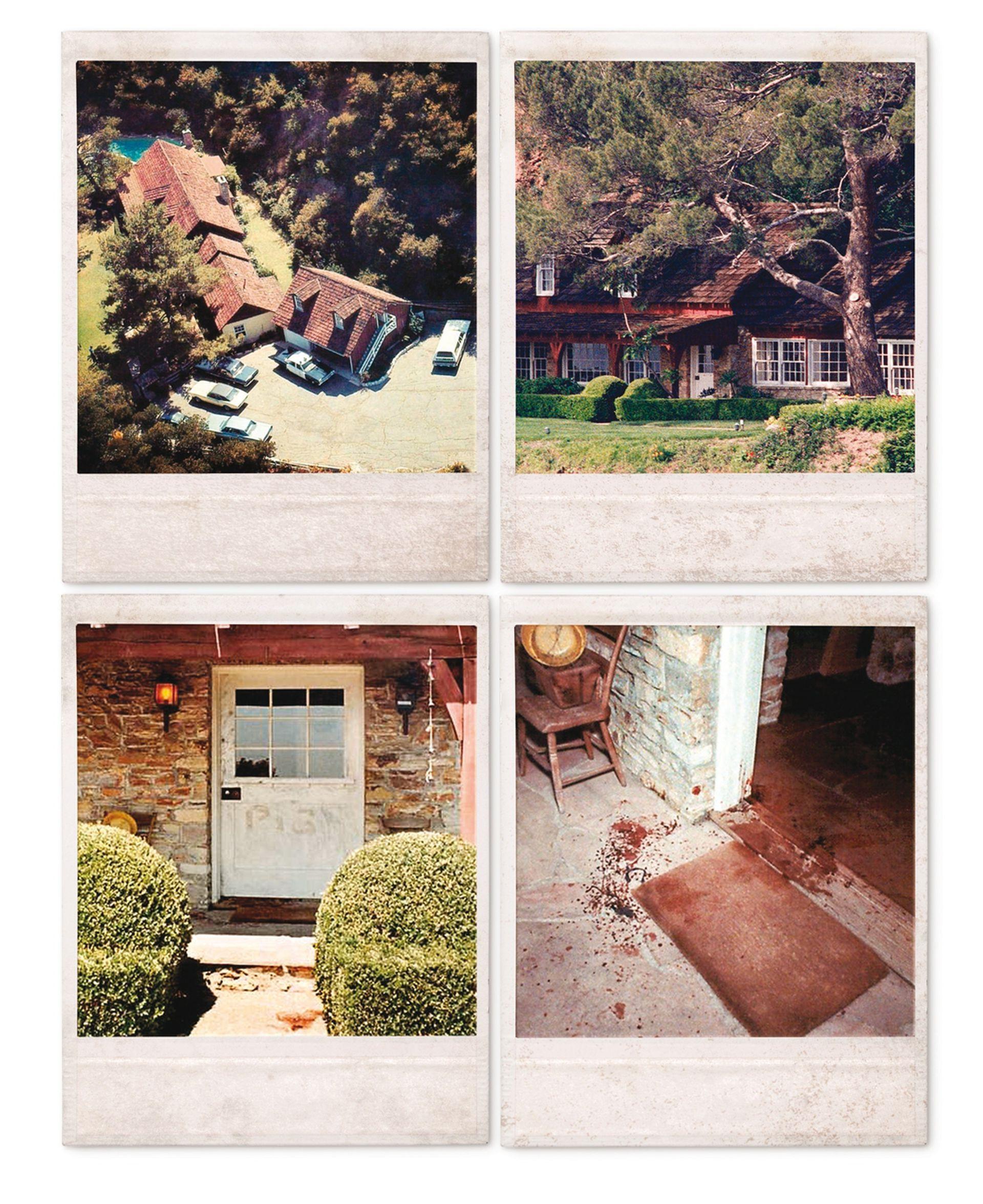 """La casa de Cielo Drive 1050, donde mataron a Sharon Tate y sus amigos, fue demolida en 1994. Susan Atkins escribió """"Pig"""" (cerdo) en la puerta de entrada con sangre de los asesinados"""