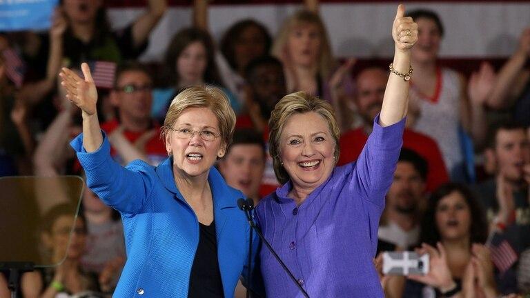 Hillary hace campaña con una senadora progresista