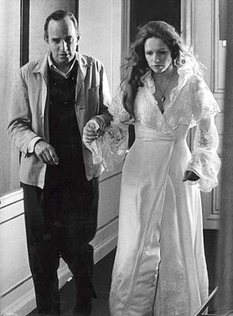 Bergman y Liv Ullmann, durante el rodaje de Gritos y susurros, en 1971