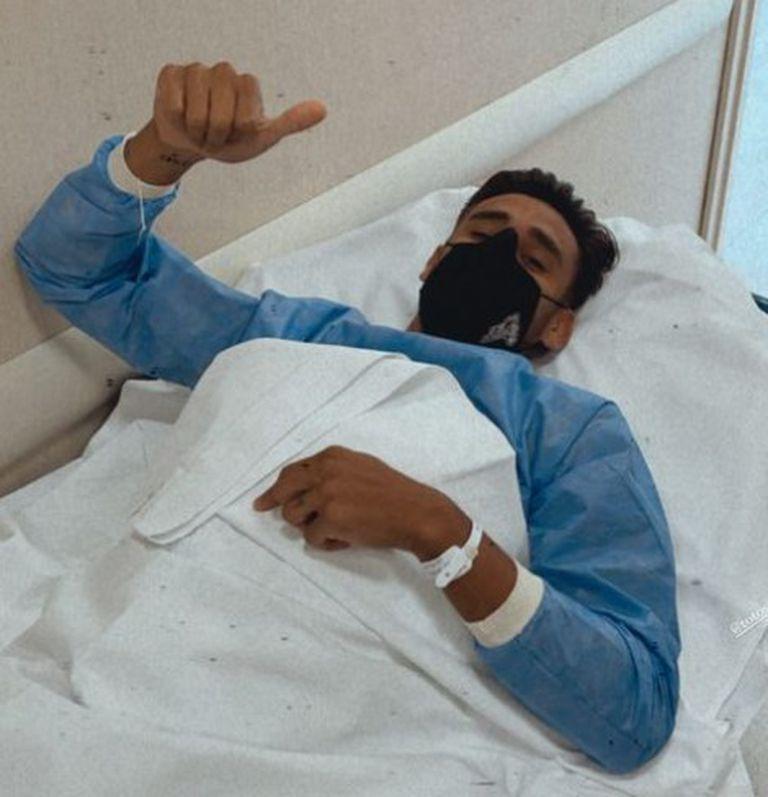 Salvio, antes de someterse a la cirugía