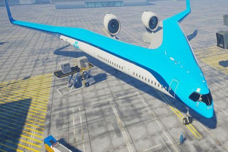 El avión planea reducir la emisión de CO2.