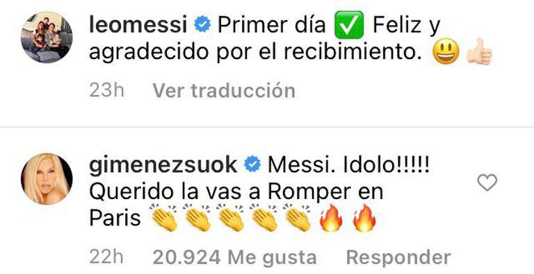 Las palabras de Susana Giménez a Lionel Messi tras su llegada a París