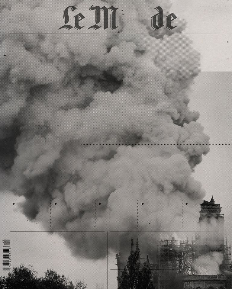 La tapa de Le Monde, cuando ardía París