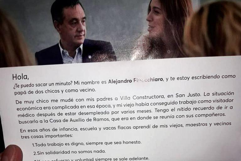 Finocchiaro es uno de los funcionarios y candidatos que se dirigió a tres millones de votantes bonaerenses