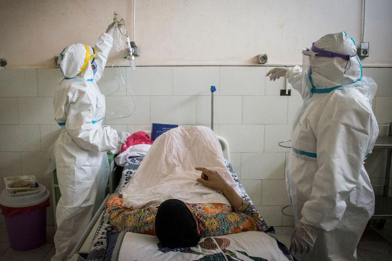 Paciente en un hospital de Egipto