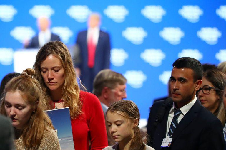 Nuevo round: Donald Trump y Greta Thunberg ahora se cruzaron en Davos