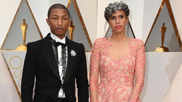 Pharrell Williams y la directora creativa Mimi Vades