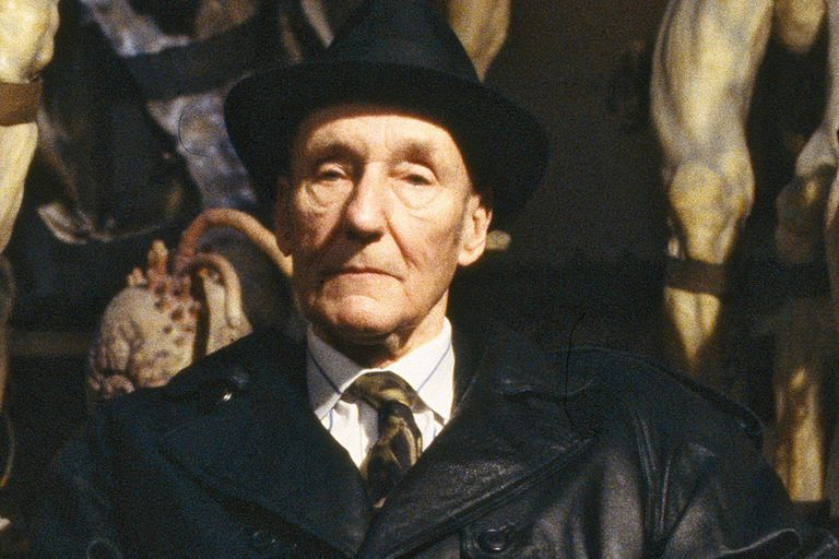 """Burroughs, en el set de filmación de """"El almuerzo desnudo"""", de Cronenberg"""