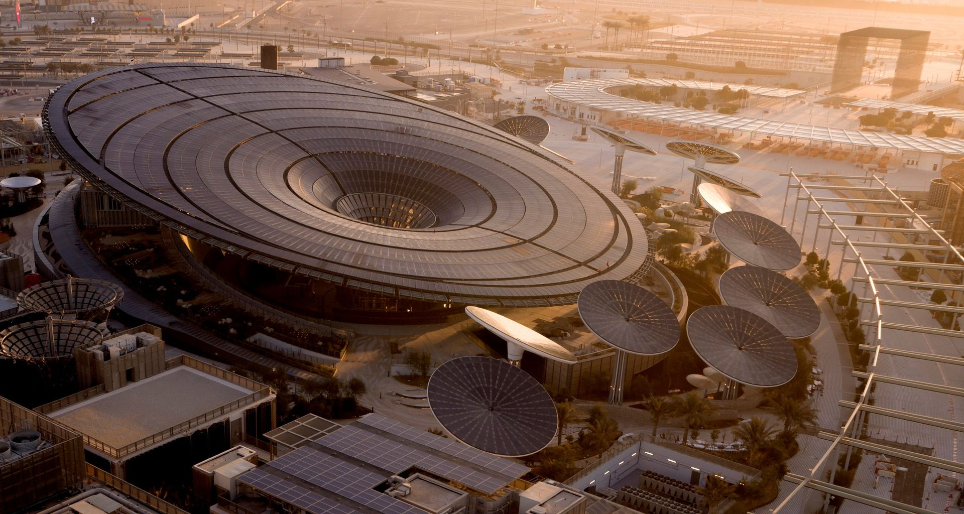 El impactante pavellón Terra, dedicado a la sustentabilidad de la Expo Dubai 2020