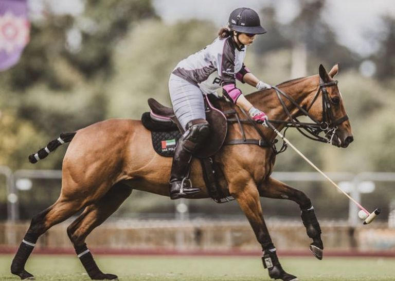 Sheika Maitha juega al polo desde hace siete años