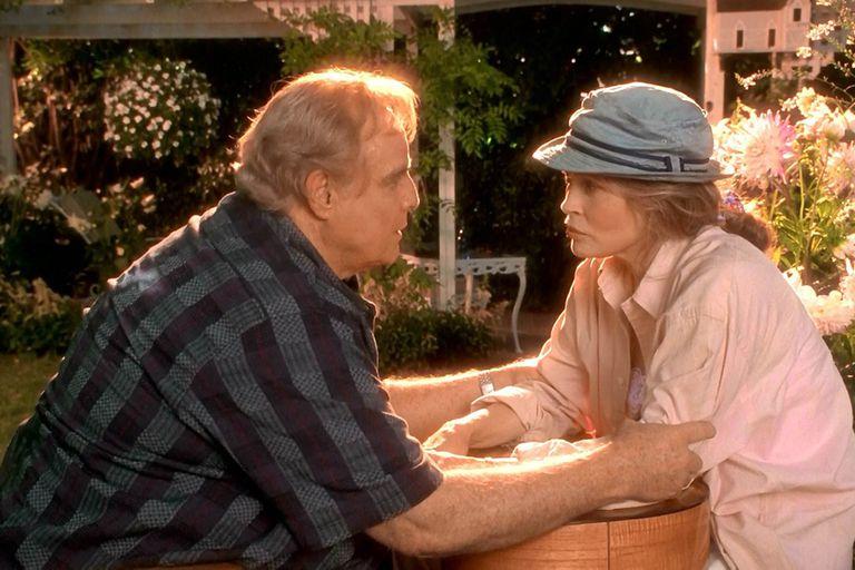Brando junto a Faye Dunaway en uno de sus últimos roles en el cine, Don Juan de Marco