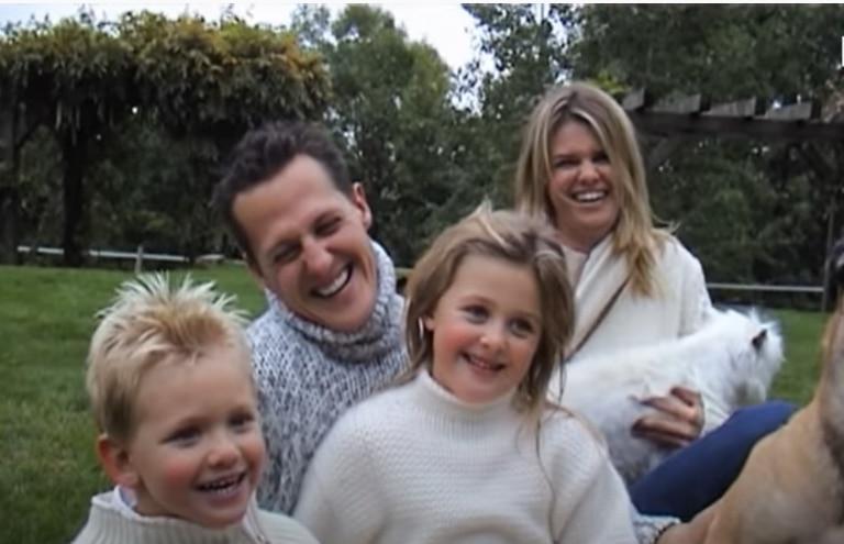 Felicidad familiar: Michael Schumacher, su mujer y sus hijos, involucrados todos en el documental que se estrenará a mediados de septiembre