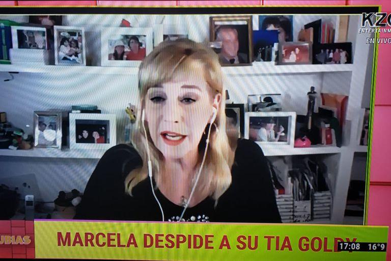 """Marcela Tinayre habló en el comienzo de su programa de la muerte de su tía, Silvia """"Goldy"""" Legrand"""