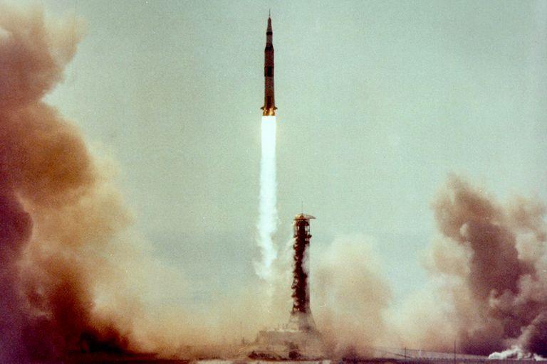 El despegue del cohete Saturno V