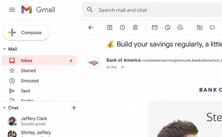 Los logos de los remitentes verificados en Gmail