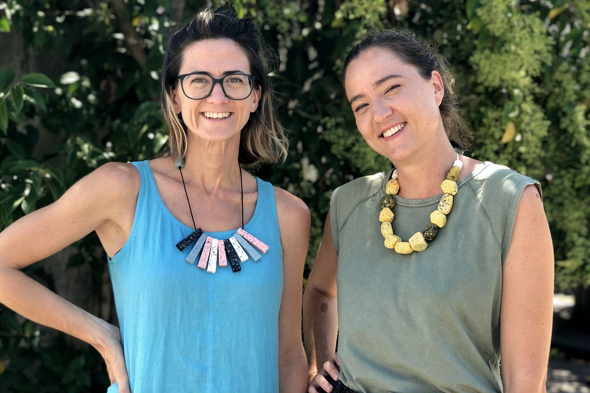 Agustina Besada junto a Rocío Gonzalez, creadoras de Unplastify
