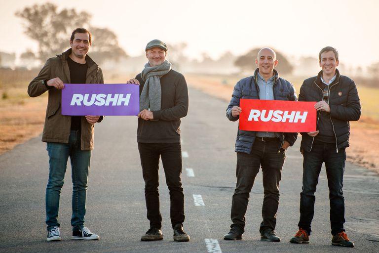 Los cuatro fundadores de Rushh