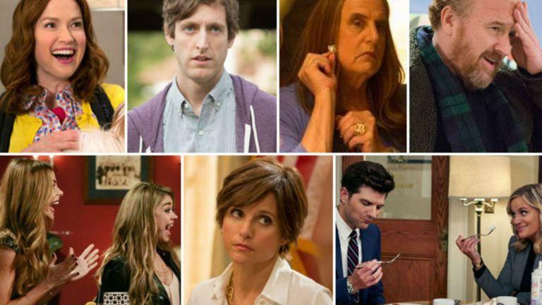 Las nominadas en comedia son: Unbreakable Kimmy Schmidt, Silicon Valley, Transparent, Louie, Modern Family, Veep y Parks and Recreation