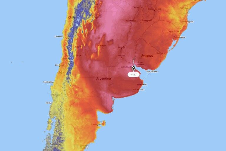Siguen las temperaturas altas en la Ciudad y seis provincias se acercan a los 40 grados