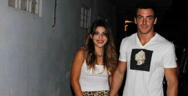 Gianinna Maradona con Luciano Strassera, cuando eran novios