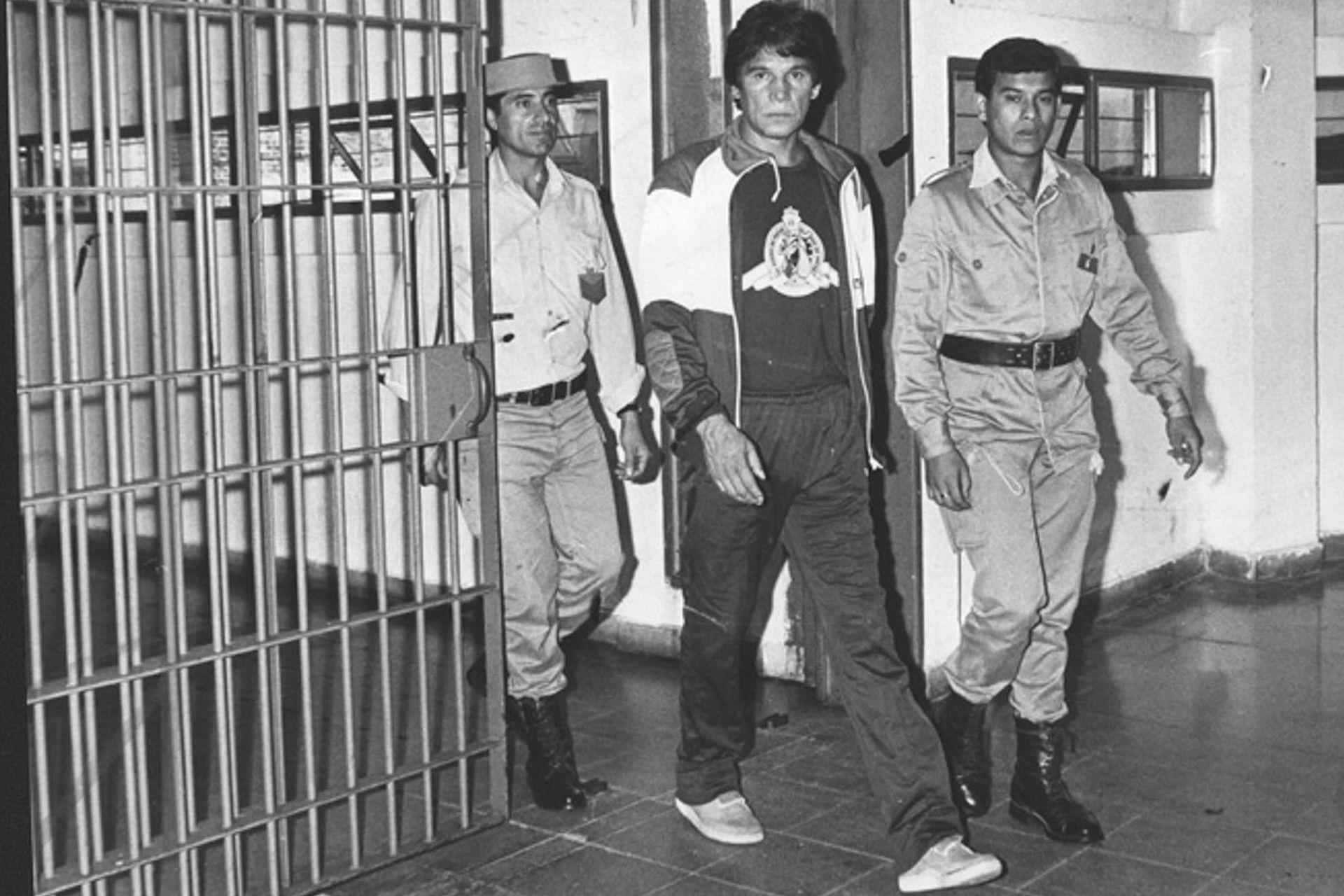 Durante los primeros días en la cárcel de Batán.