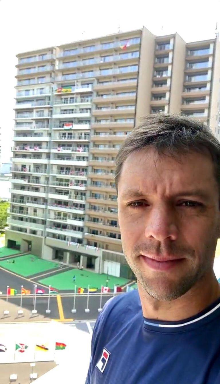El tenista argentino Horacio Zeballos en la Villa Olímpica de Tokio 2020.