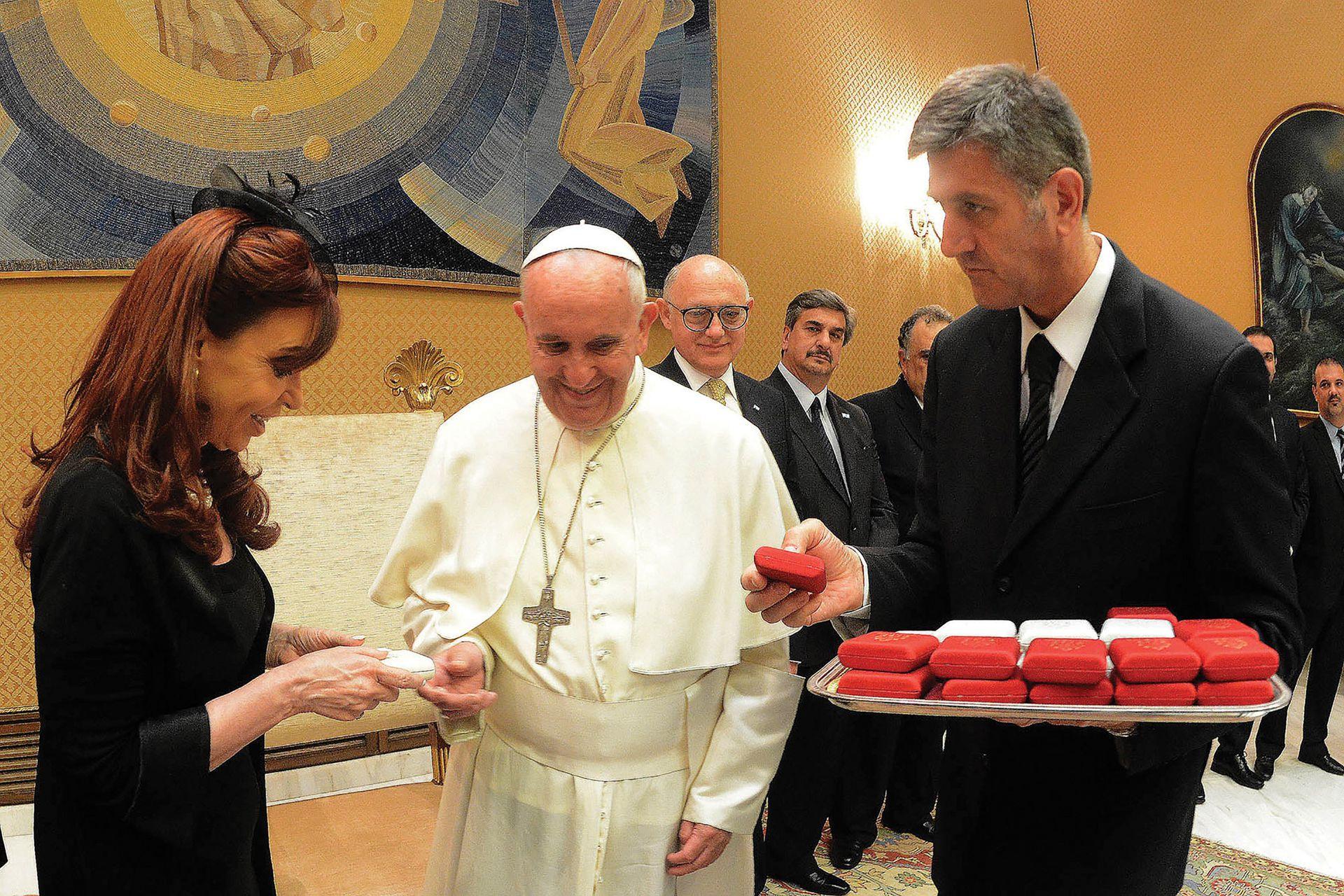 Visita oficial de Cristina Fernández de Kirchner, como presidenta, al papa Francisco, en 2015