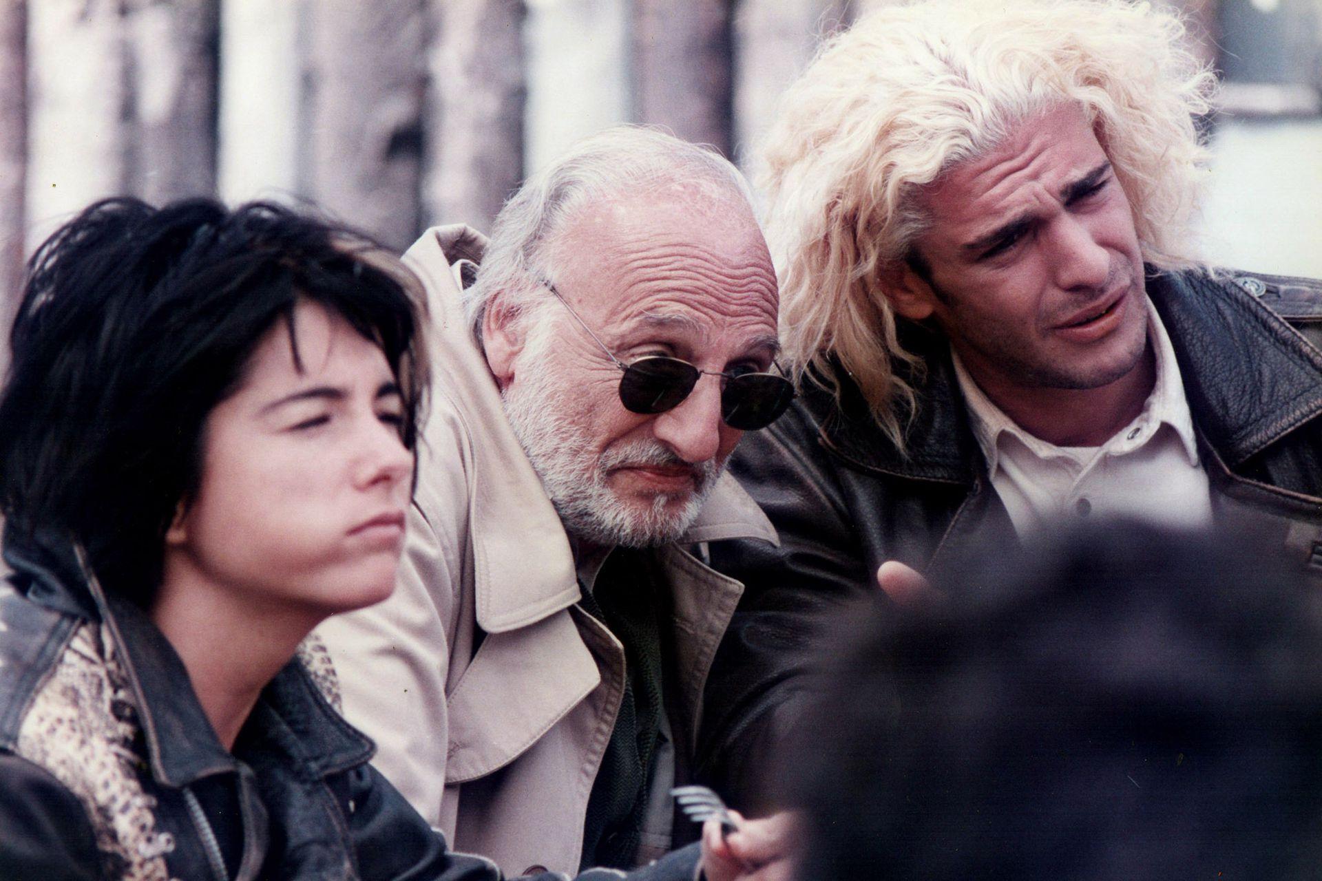 Cecilia Dopazo, Héctor Alterio y Leonardo Sbaraglia, durante el rodaje