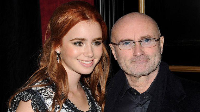 Phill Collins y Lily, una difícil relación padre-hija